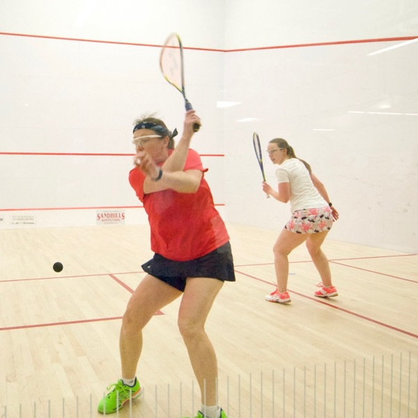 Squash Backhand out of the Back Corner