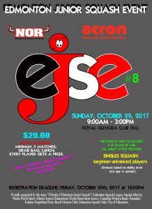 Volunteers Needed for the EJSE #8 (Junior Squash)